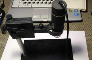 Обзор моего USB микроскопа и доработка его штатива